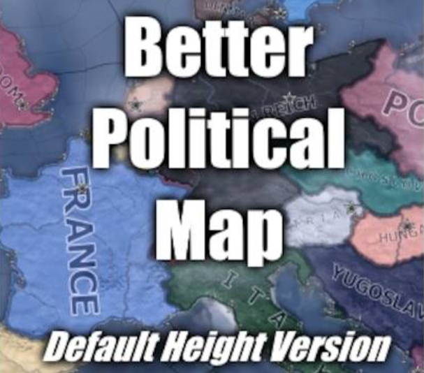 Better Political Map - Default Height Version mod for Hearts