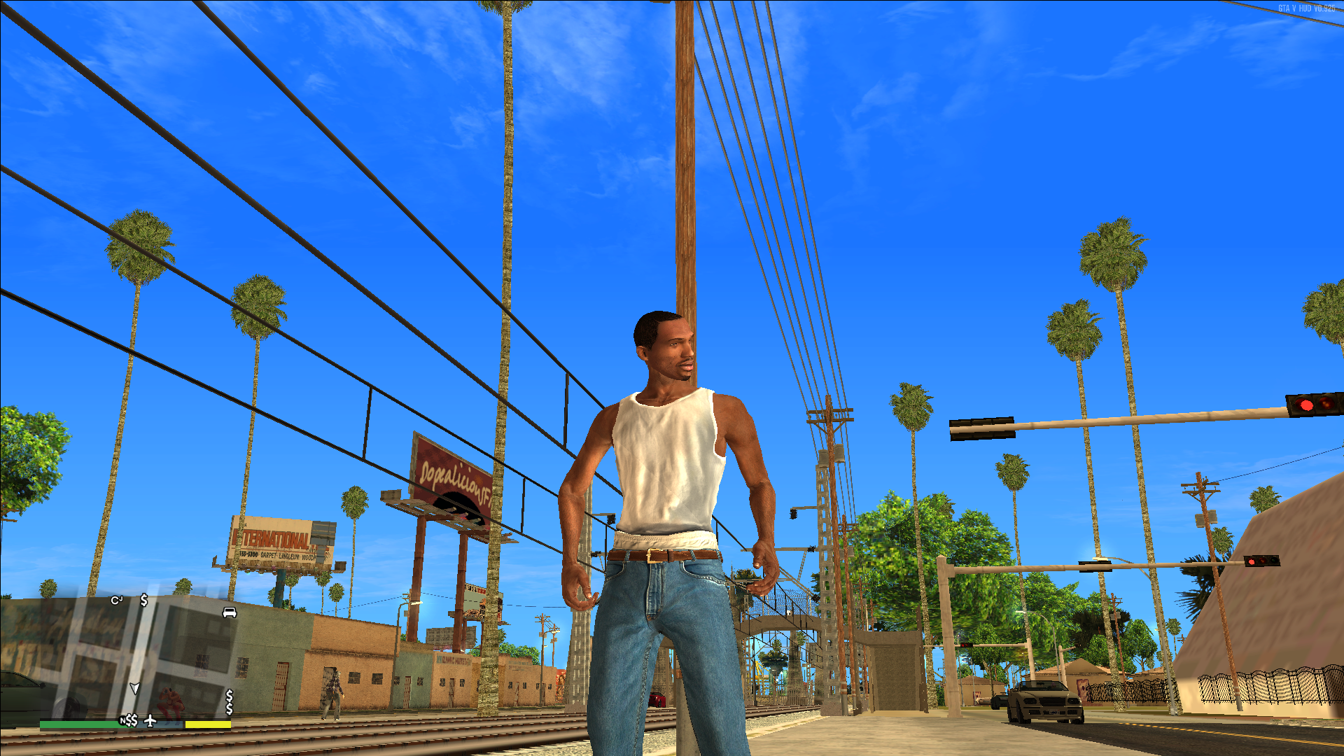 Carl Johnson Remastered image - GTA V San Andreas mod for Grand