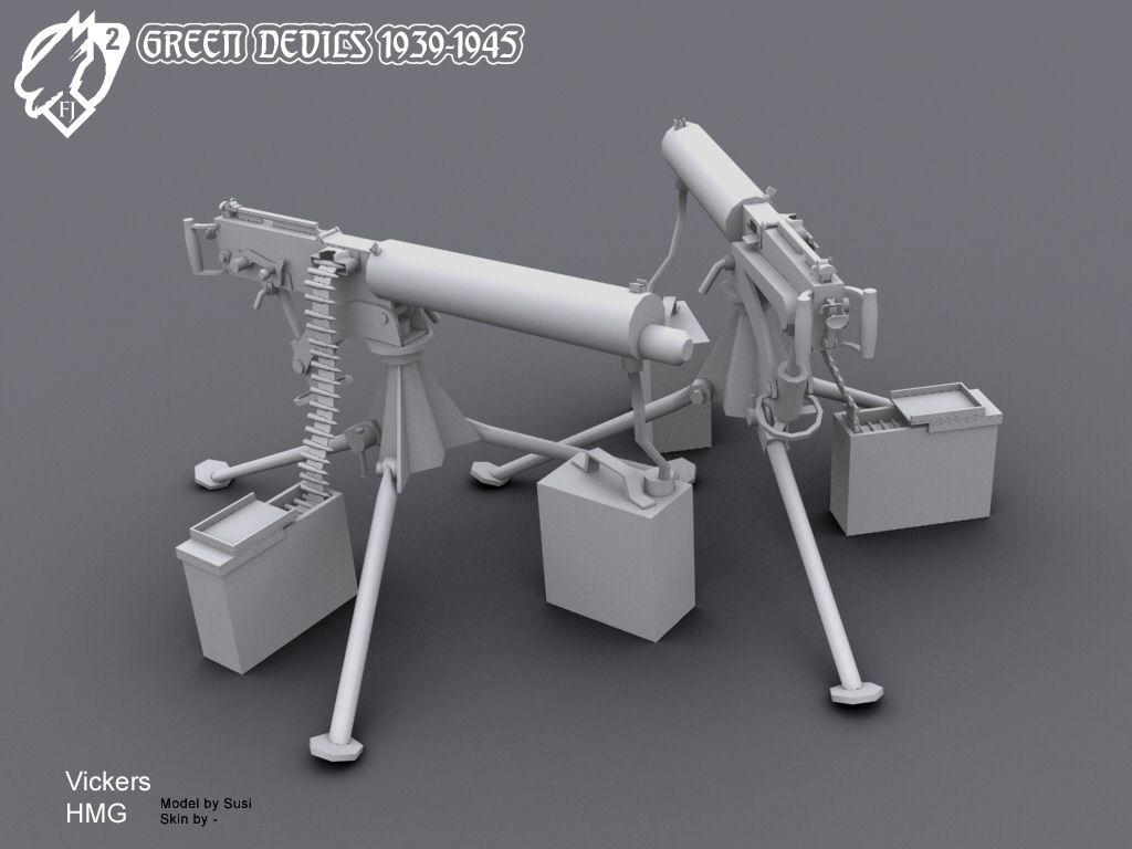 vickers heavy machine gun