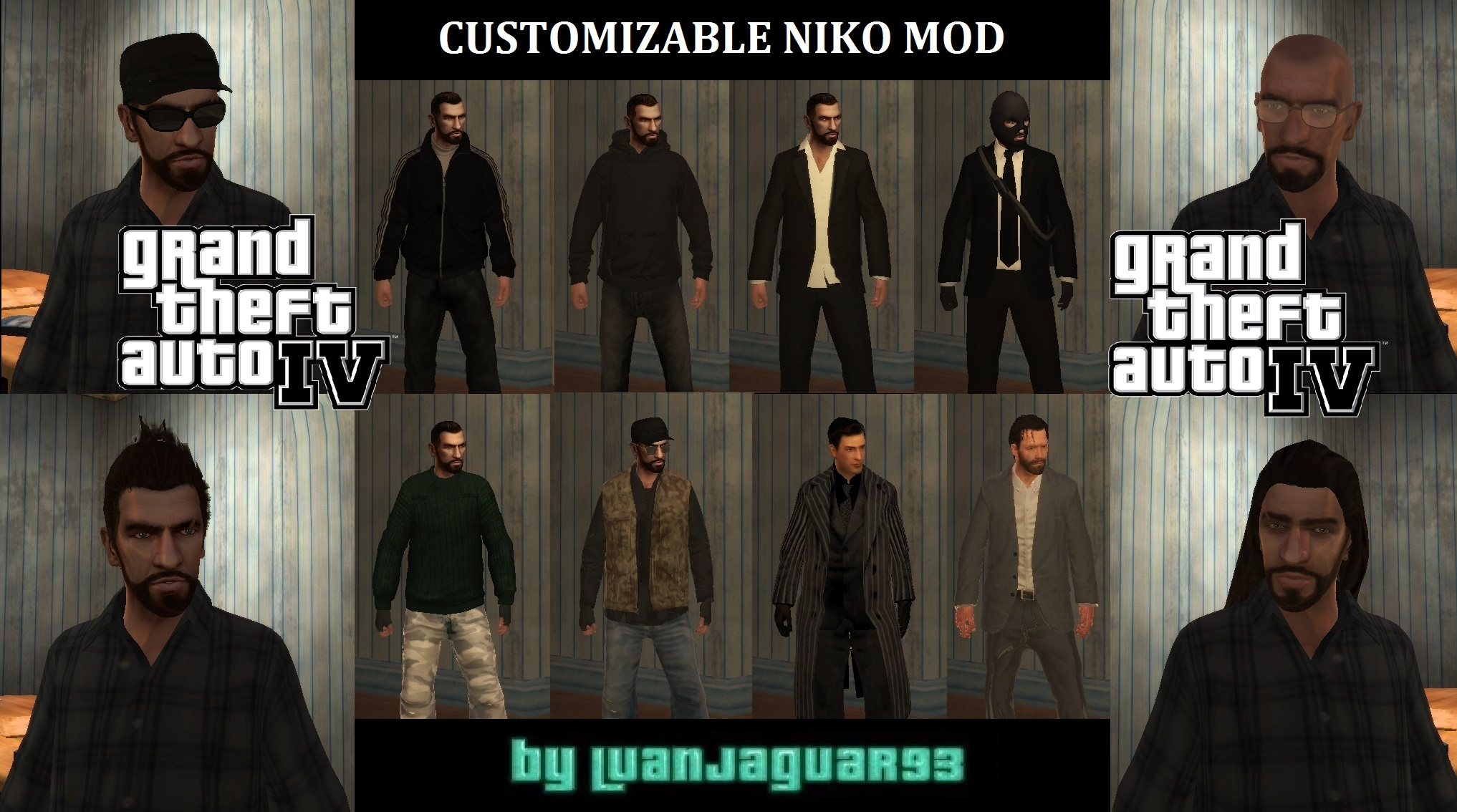 GTA IV - Customizable Niko Bellic Extended Mod by