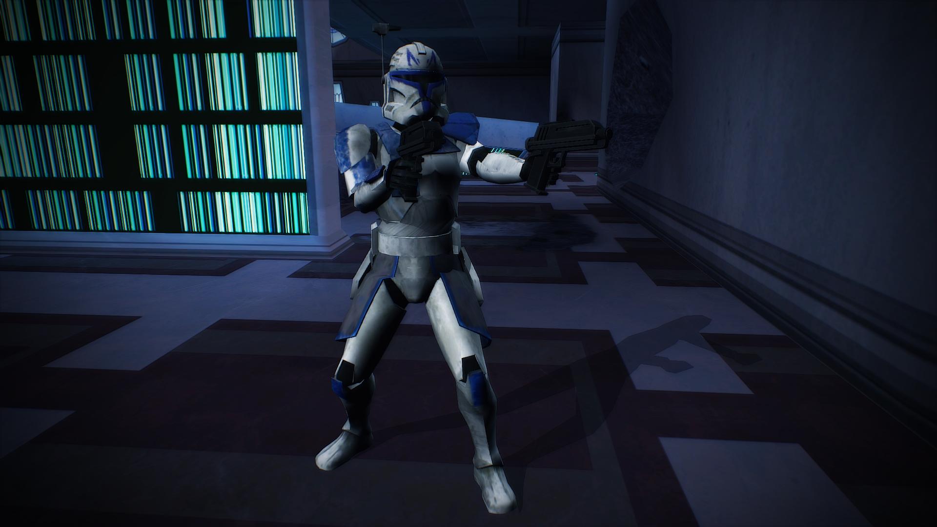 Captain Rex 501st Legion Dual Pistols Image Gongasleet Era Mod