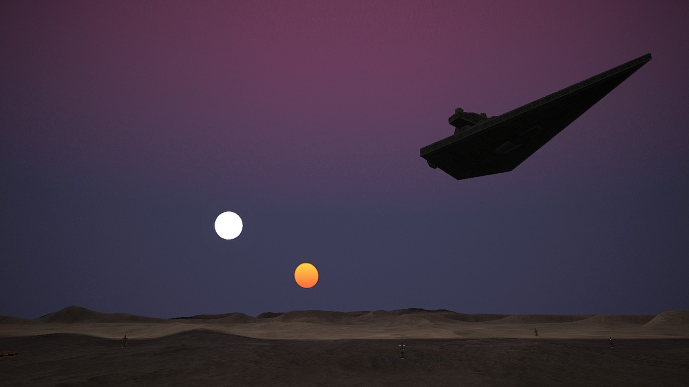 Twin Suns Binary Sunset Image Darthsith S Battlefront 1