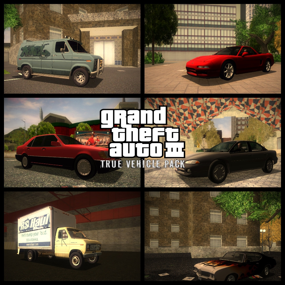 GTA3: True Vehicle Pack Mod For Grand Theft Auto III