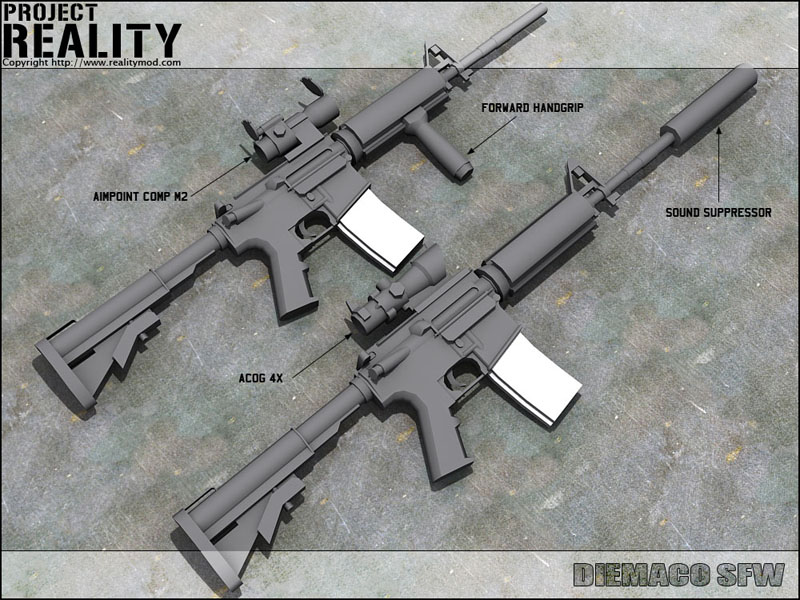 Diemaco SFW image - Project Reality: Battlefield 2 mod for