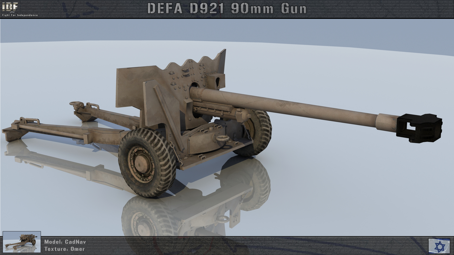 Defa D921 90mm Image Idf Fight For Independence Mod For