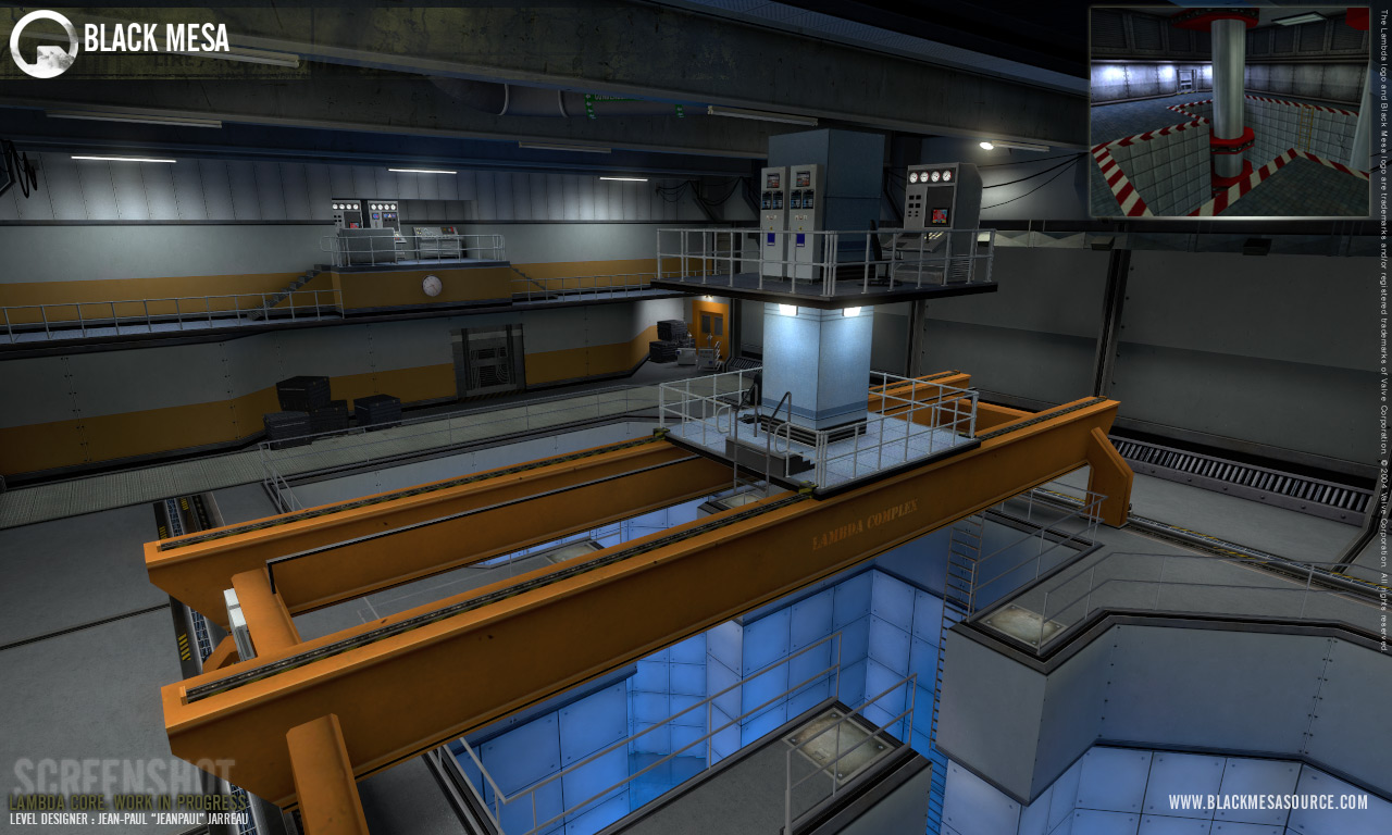 lambda core ingame shot image - black mesa mod for half-life 2