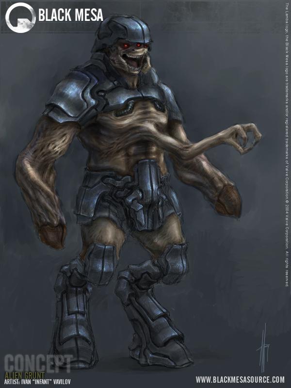 Alien Grunt Concept Image Black Mesa Mod For Half Life 2
