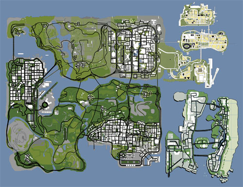 Map Mockup Image Grand Theft Ultra Mod For Grand Theft Auto - San andreas on us map