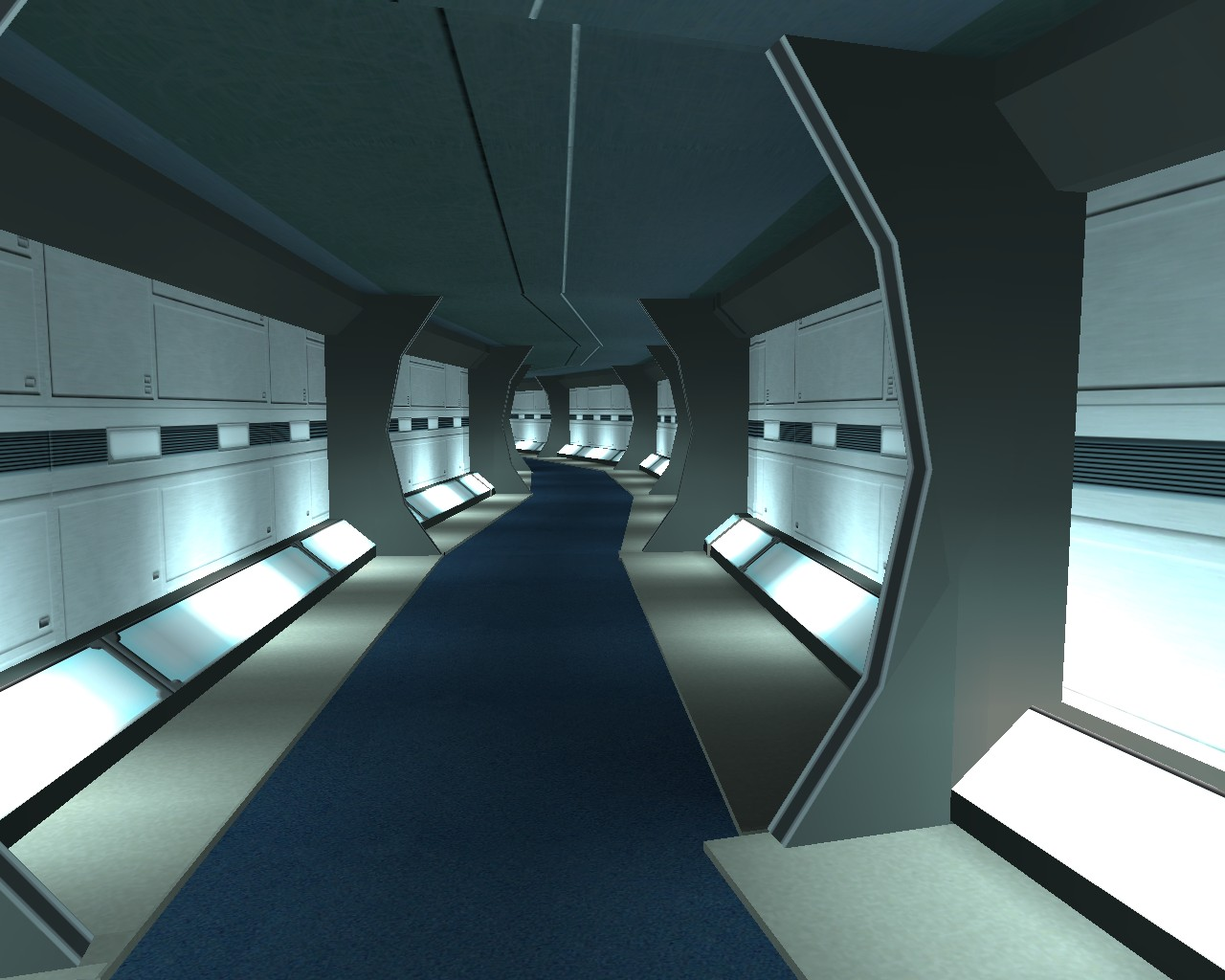 Rigel VII: TNG Corridors |Uss Enterprise Corridors