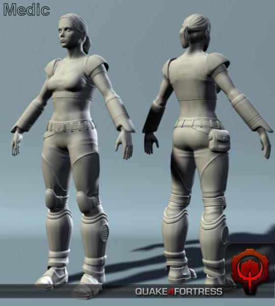 Medic Render image - Quake 4 Fortress mod for Quake 4 - Mod DB