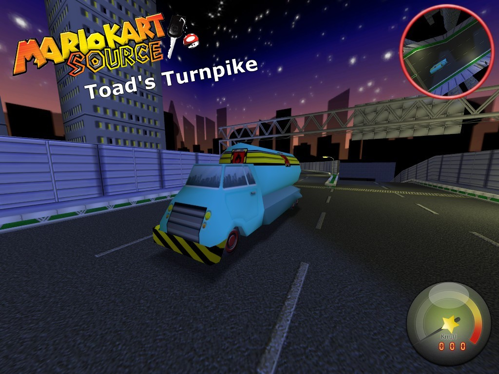 Race Map Toad S Turnpike Image Mario Kart Source Mod For Half Life 2 Mod Db