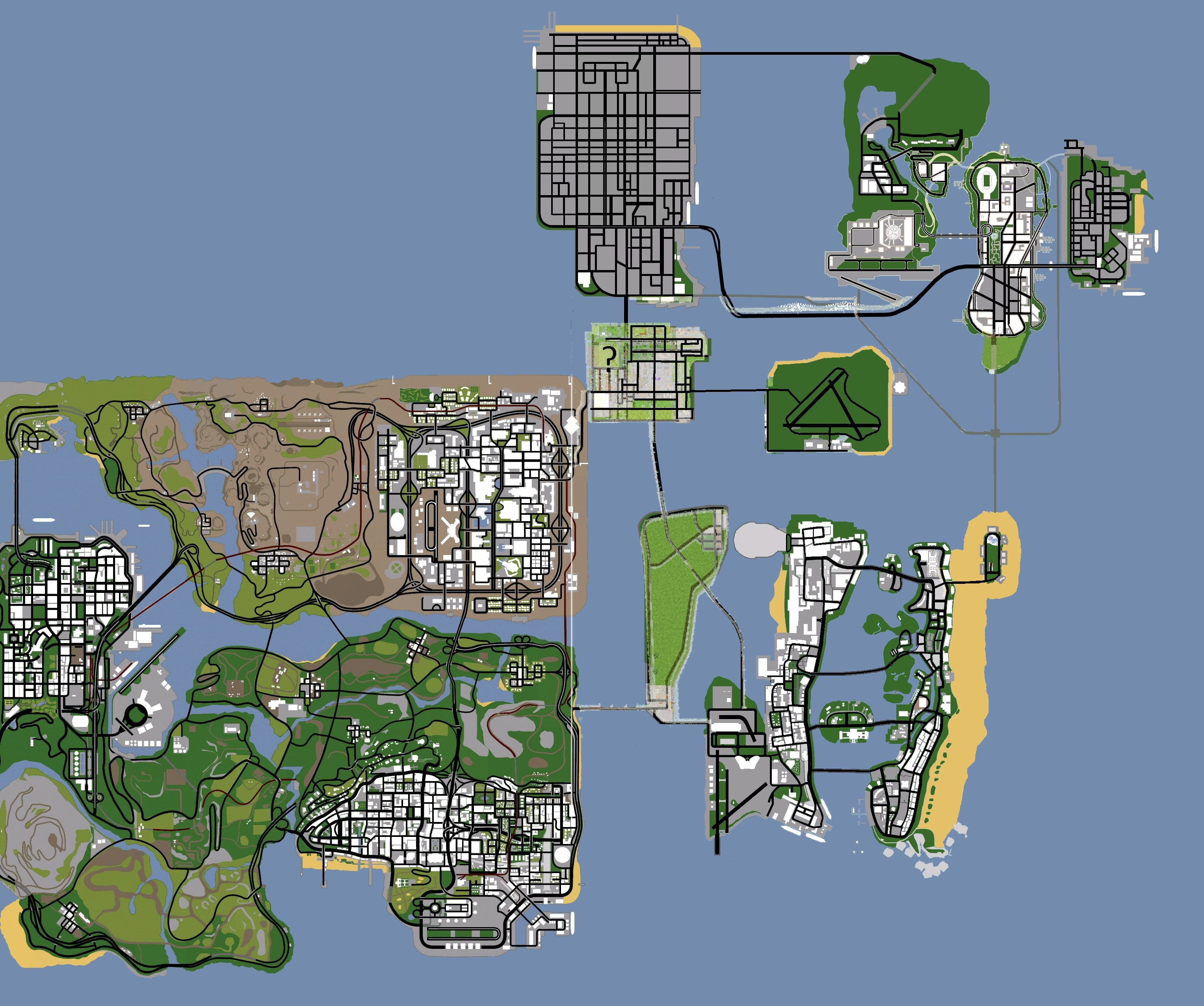 Vice City Map Properties Mappa de GTA SOL image...