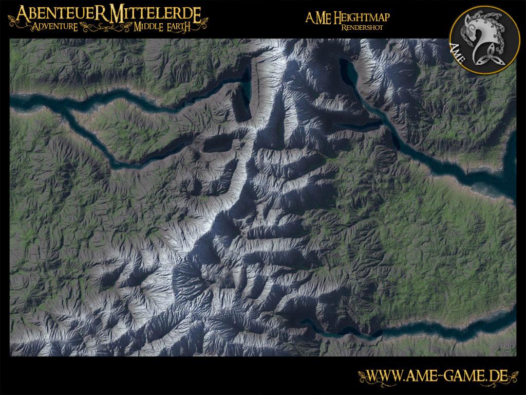 Heightmap Rendershot Image Adventure Middle Earth Mod For Elder