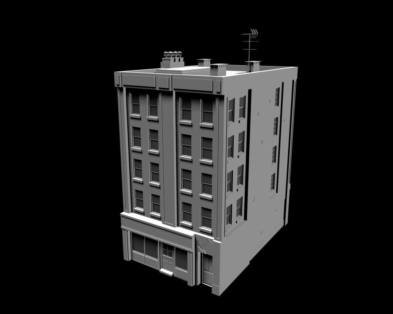 seventh style building front image sacrator mod for unreal