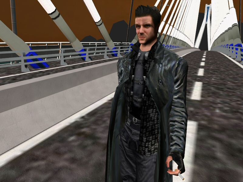 Max Faces A Great Danger On The Bridge Image Max Payne