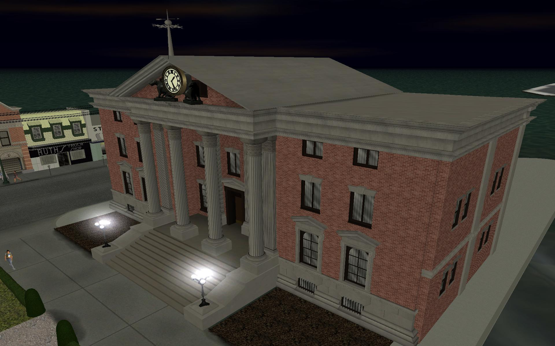 Grand Valley Auto >> 1955 Clocktower - In Game - Night image - Back to the Future: Hill Valley mod for Grand Theft ...