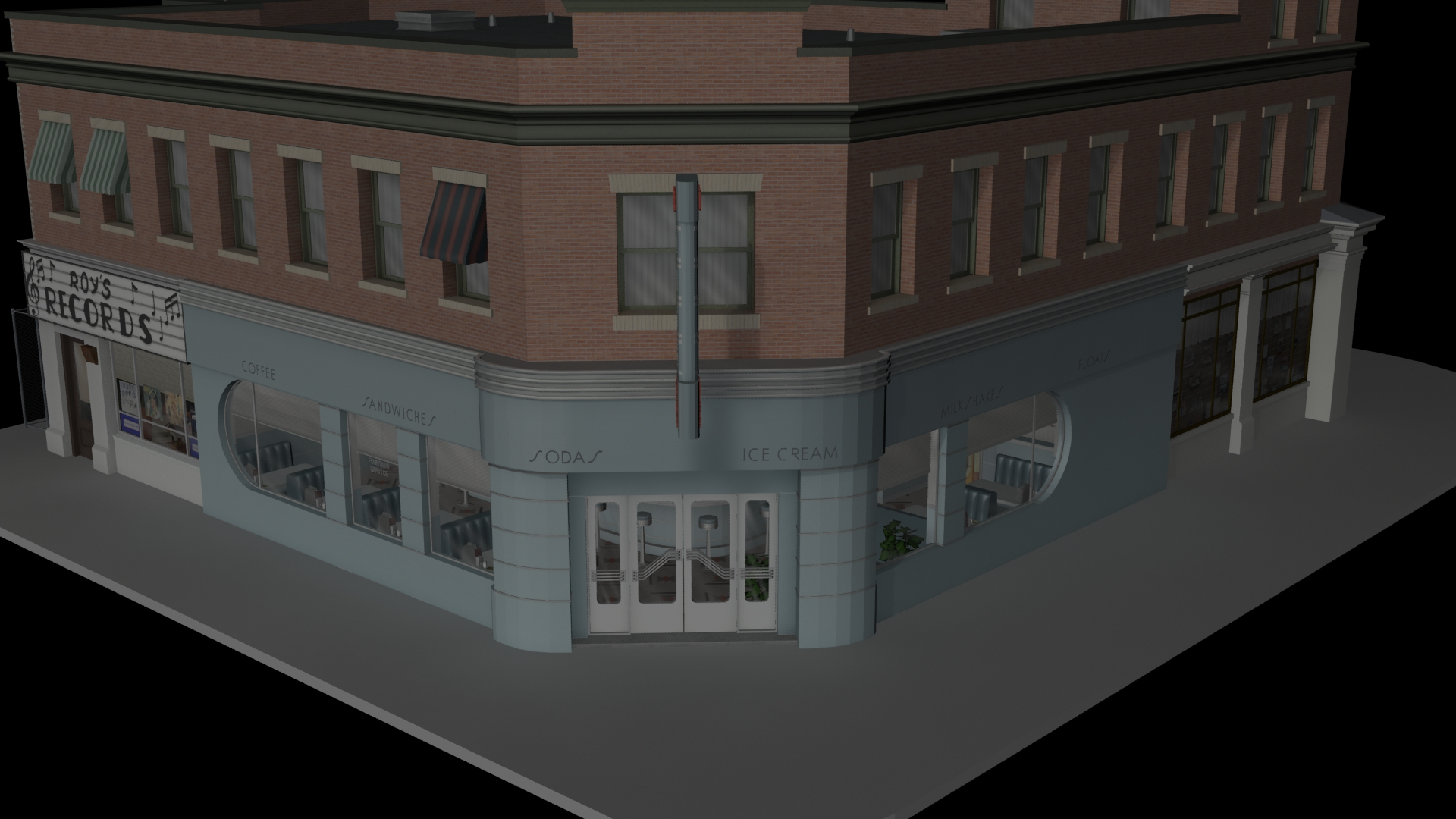 Grand Valley Auto >> 1955 Lou's Cafe - Render - Textured image - Back to the Future: Hill Valley mod for Grand Theft ...
