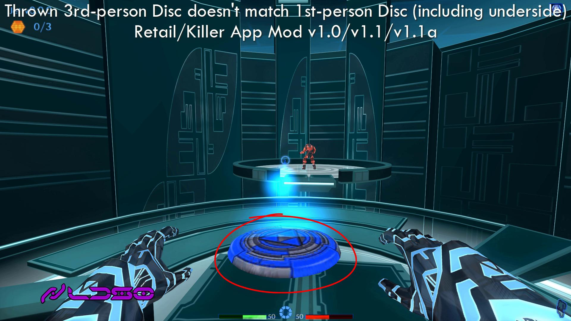 Jet's thrown third-person discs don't look the same as first-person