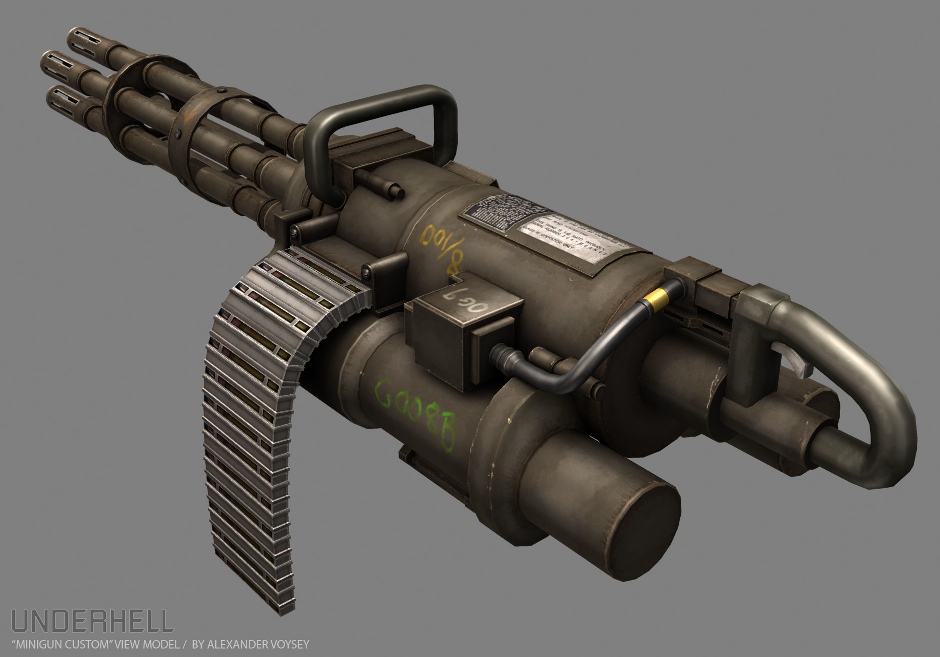 New Minigun by Alexander Voysey image - Underhell mod for Half-Life