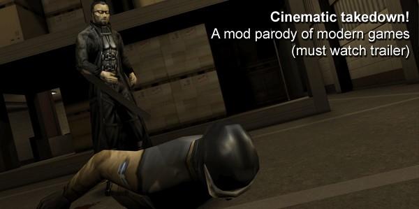 Modern game mod parody