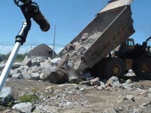 Breaking rocks in the hot sun!
